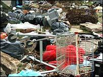 Rubbish dumped at former Baseball Ground