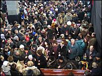 Похороны жертв пожара (Фото Дмитрия Климова)