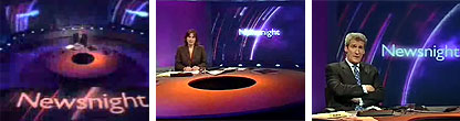 Shots of the Newsnight set