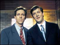 Hugh Laurie with Stephen Fry