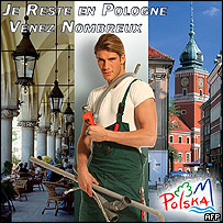 Polish plumber in tourism board advert