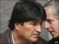 Evo Morales y �lvaro Garc�a Linera.