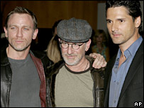 Daniel Craig, Steven Spielberg and Eric Bana