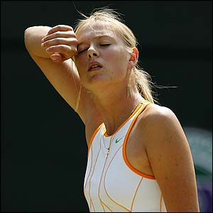 Defending women's champion Maria Sharapova