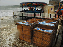 Torrential rain hits Scarborough, July 2004