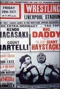 Poster advertising wrestling