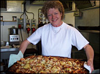 Issy Gerrard, one of the Rothera station's chefs (BBC)