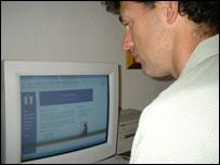 Paul Daniell at his computer