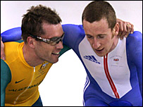 Brad McGee (left) and Bradley Wiggins