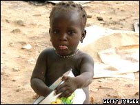 Girl in Mali which faces a food shortage this year