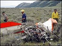 Wreckage of John Walton's plane