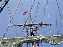 Grand Turk's rigging