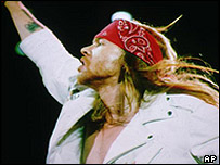 Axl Rose from Guns N' Roses