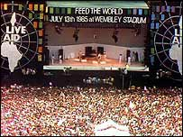 Live Aid concert in 1985