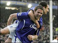 James Beattie scored the winning goal for Everton