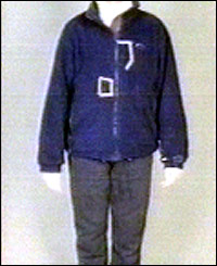 Sion Jenkins' clothes from the front