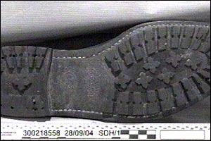 Sion Jenkins' left shoeprint