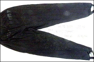 Billie-Jo's ski pants from the back