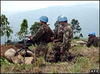 UN peacekeeping troops in North Kivu province, DR Congo