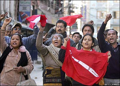 Protesters in Nepal