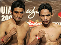 Erik Morales (left) and Manny Pacquiao
