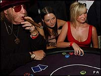 Poker game in London
