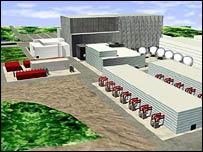 Un modelo del reactor termonuclear ITER en Caradache, Francia