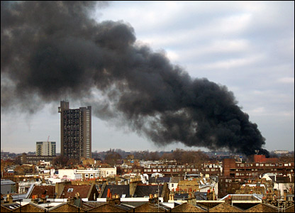 Some from the fire over London
