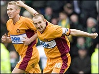 Jim Hamilton scored a wonderful goal for Motherwell