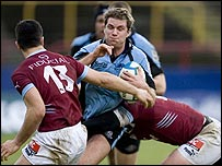Andy Craig in action against Bourgoin