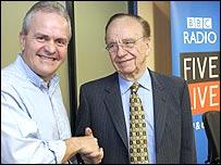 Interviewer Jeff Randall and Rupert Murdoch