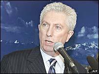 Bloc Quebecois leader Gilles Duceppe in Laval, Quebec