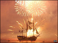 Trafalgar re-enactment and firework display