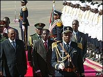 Zimbabwean President Robert Mugabe in Khartoum