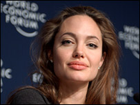 Angelina Jolie at the World Economic Forum in 2005 - �Swiss Image