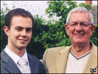 Brian Blackwell and his father Sydney