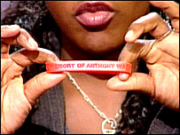 Anthony Walker Foundation wristband held by his sister Dominique