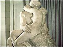 """""""El beso"""" del escultor francés François Auguste René Rodin."""