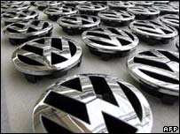 VW badges, AFP