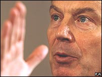 Tony Blair at his monthly press conference on 23 January, 2006