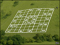 Sudoku puzzle measuring 275ftx275ft