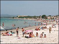 The Sardinian coast