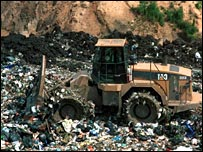 Landfill rubbish site