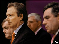 Tony Blair and top ministers