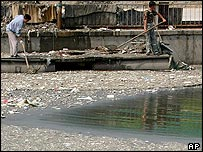 Polluted waterway in China