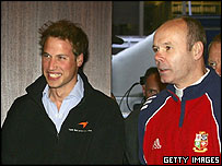 Prince William and Clive Woodward
