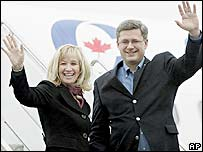 Stephen Harper and wife Laureen Teskey