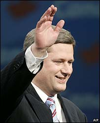 Stephen Harper makes his victory speech