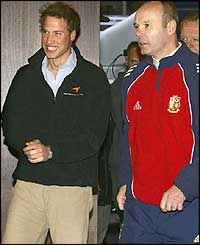 Prince William and Sir Clive Woodward