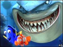 Scene from the film Finding Nemo